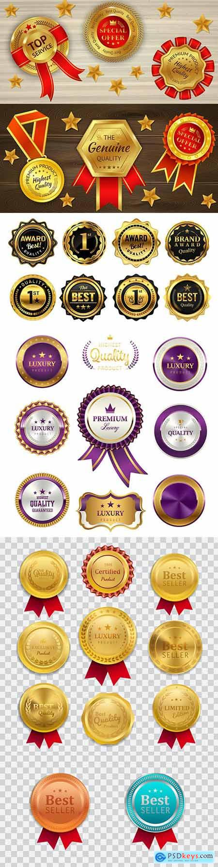 Luxury premium gold badges and labels collection 10