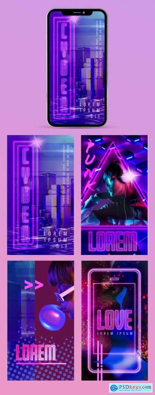 Cyberpunk Style Social Media Stories 375458320