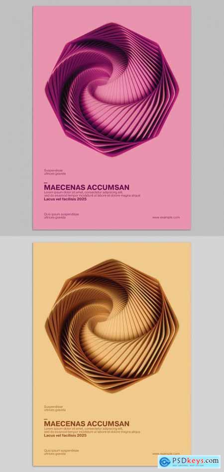 Vortex Minimalistic 3D Poster Design Layout 377384081