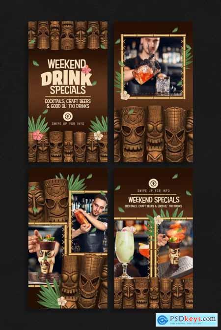 Tiki Social Media Layouts for Bars and Restaurants 373561013
