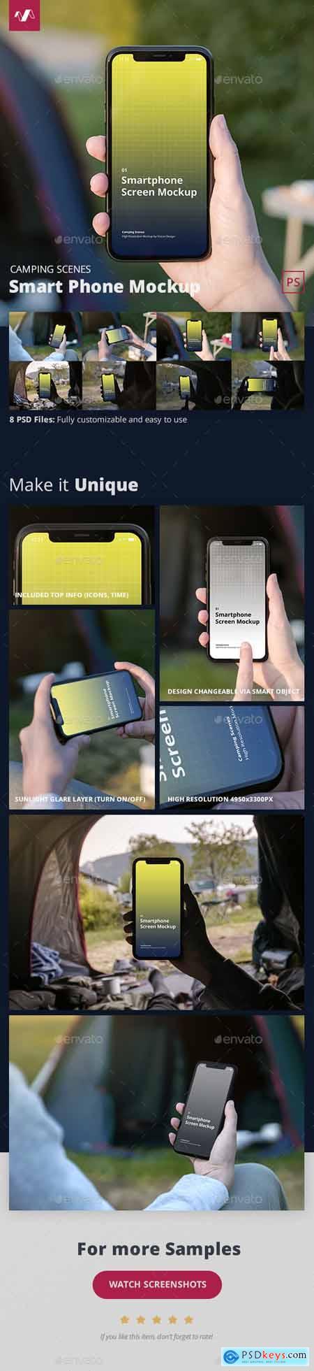 Phone Mockup Camping Scenes 28483916