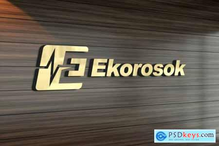 3d logo mockup wall