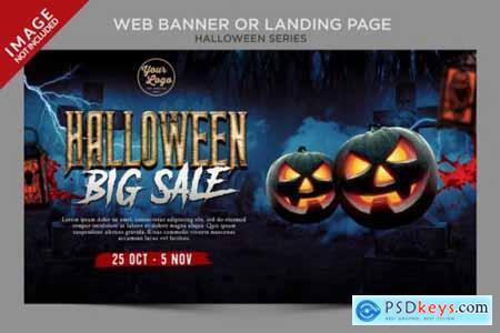 Halloween web banner and menu