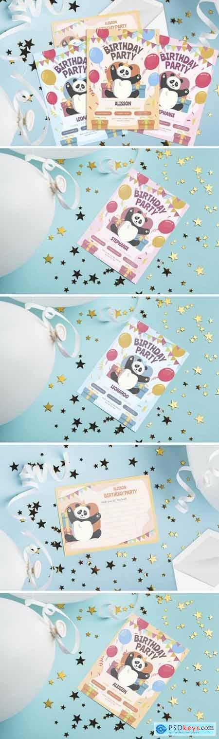 Birthday Panda - Kids Birthday Invitation