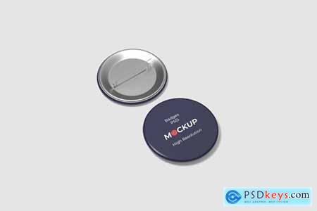 Pin Button Badge Mockup Vol.2