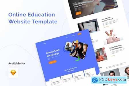 Online Education Website Template GNQQ48R