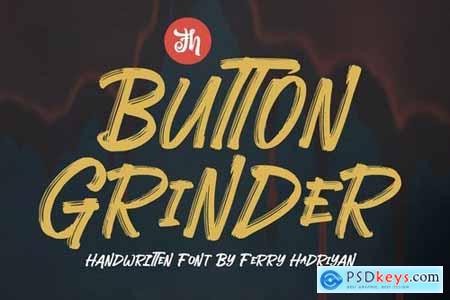 Button Grinder - Display Handwritten Font