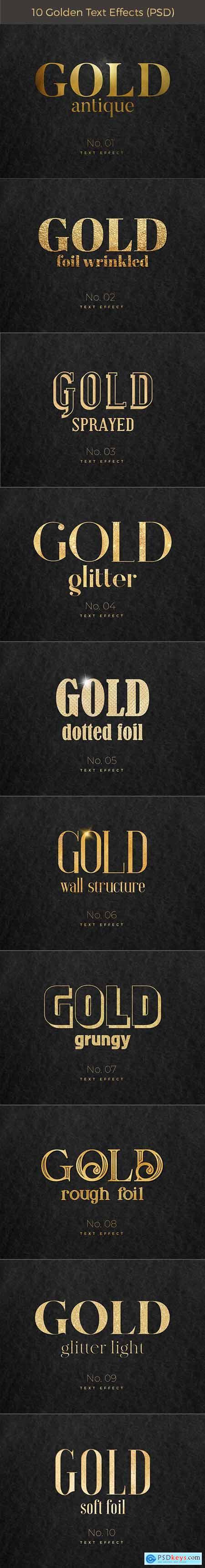 10 Golden Text Effects 28156153
