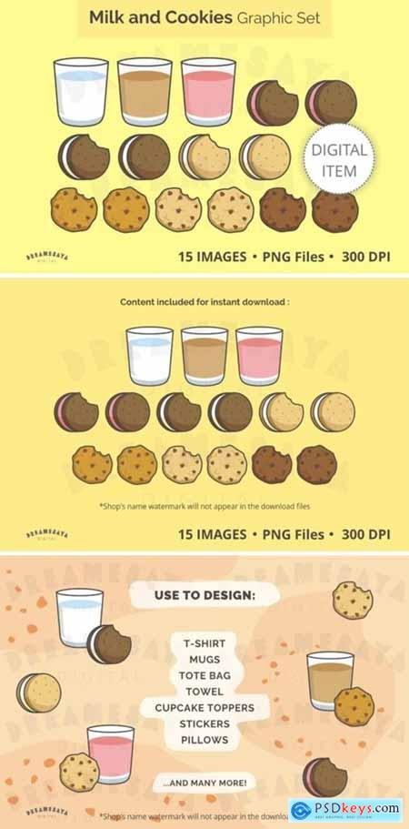 Milk and Cookies Graphics Set 5612053
