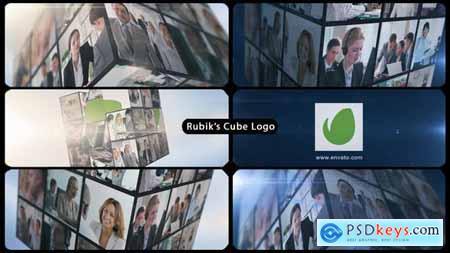 Rubiks Cube Multi Video Corporate Logo 15361279