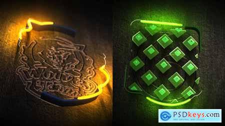 Neon Wood Logo Reveal 25295736