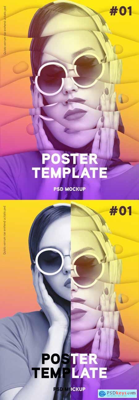 Modern Poster Design Photo Effect 379965786