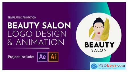 Beauty Salon Logo Design and Animation 28581380