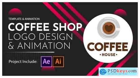 Coffee Shop Logo Design and Animation 28601763