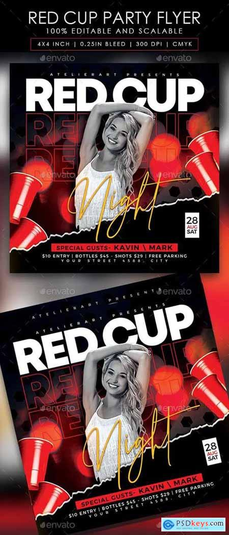 Red Cup Party Flyer 28430298