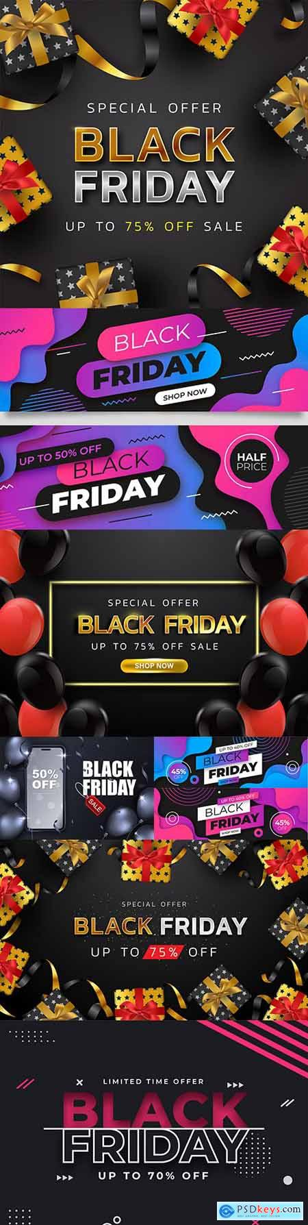 Black Friday and sale special design illustration 37