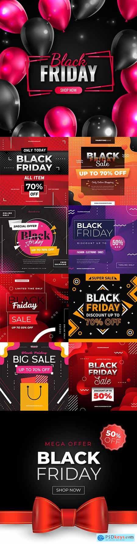 Black Friday and sale special design illustration 36