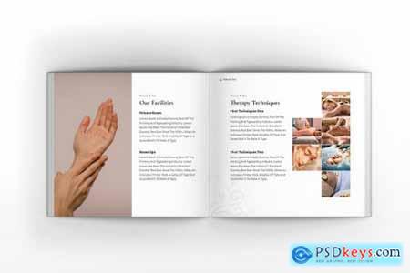 Beauty Spa & Skin Care Square Brochure Template