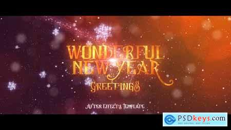 Wonderful New Years Greetings 18708907