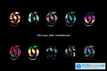 Chrome Layer Style Pack 4459854
