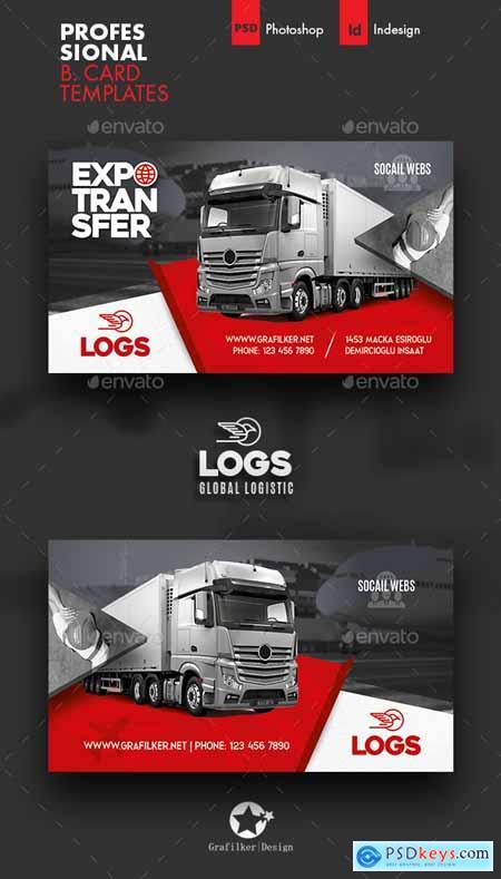 Logistics Business Card Templates 28139253