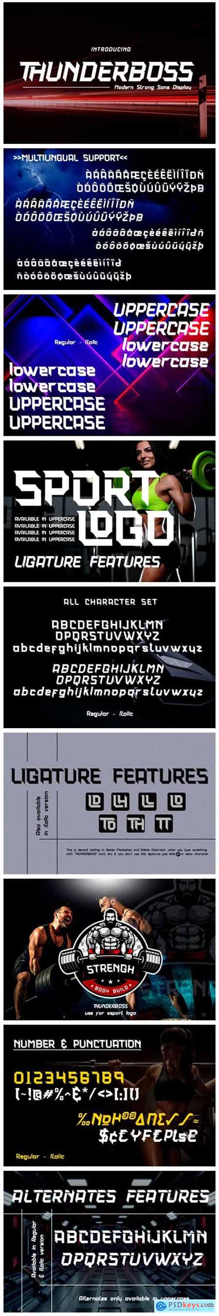 Thunderboss Font