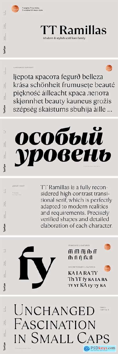TT Ramillas Font Family