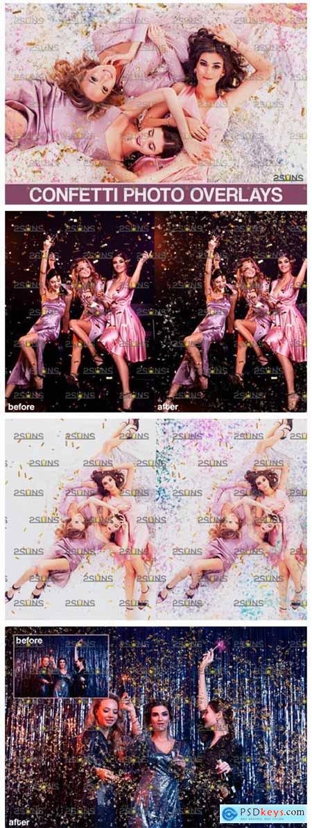Confetti Overlay & Photoshop Overlay 5545014
