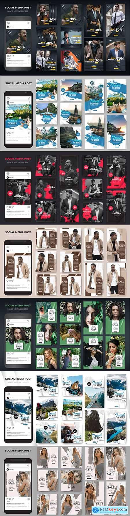Social media stories Instagram template sale fashion