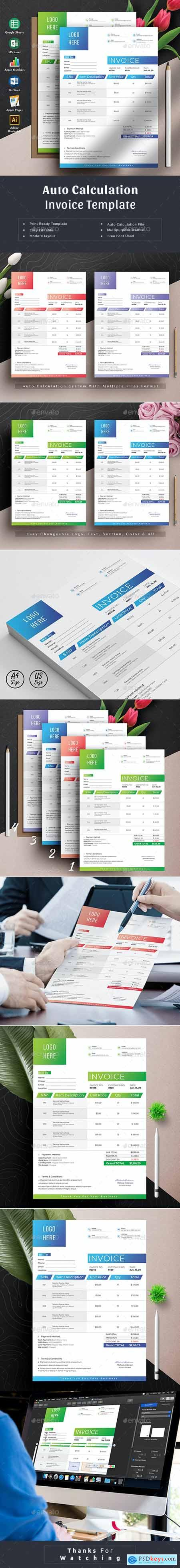 Invoice Template Excel Numbers Google Sheets 20687368
