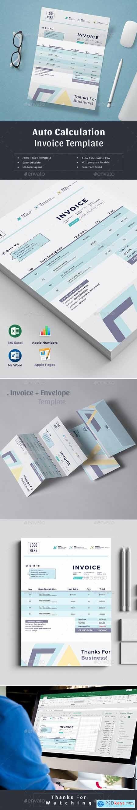 Invoice Excel Numbers 25697727