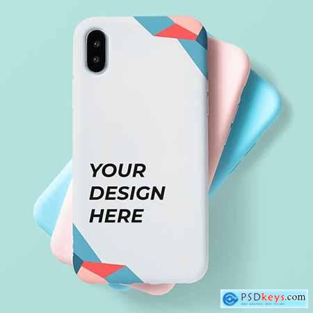 Pastel mobile phone case mockup 598479