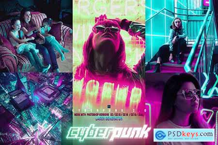 Cyber Punk City Photoshop
