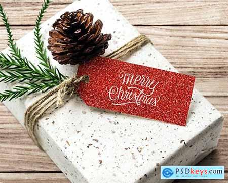 Christmas holiday greeting design mockup 516364