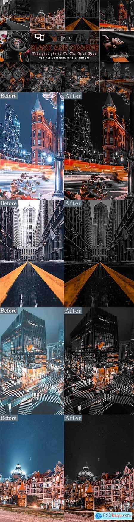 Urban Black AND Orange Presets