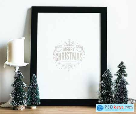 Christmas holiday greeting design mockup 516274