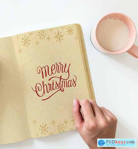 Christmas holiday greeting design mockup 516409