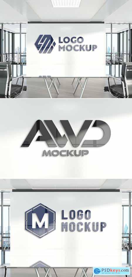 Logo on Office Wall Mockup 381759801