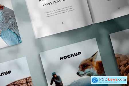 Square Magazines Layout Mockup