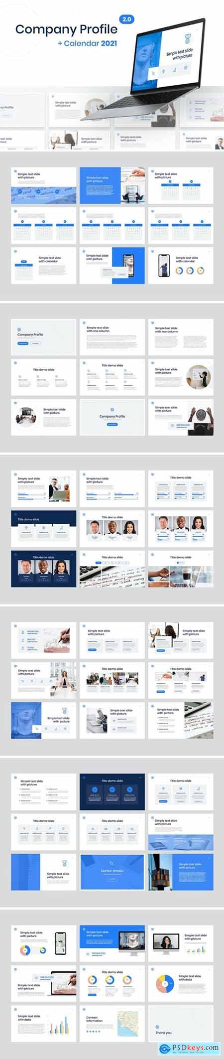 Company Profile Powerpoint, Keynote and Google Slides Templates