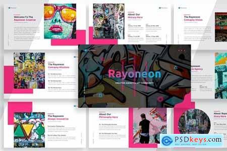 Rayoneon Presentation Powerpoint, Keynote and Google Slides Templates