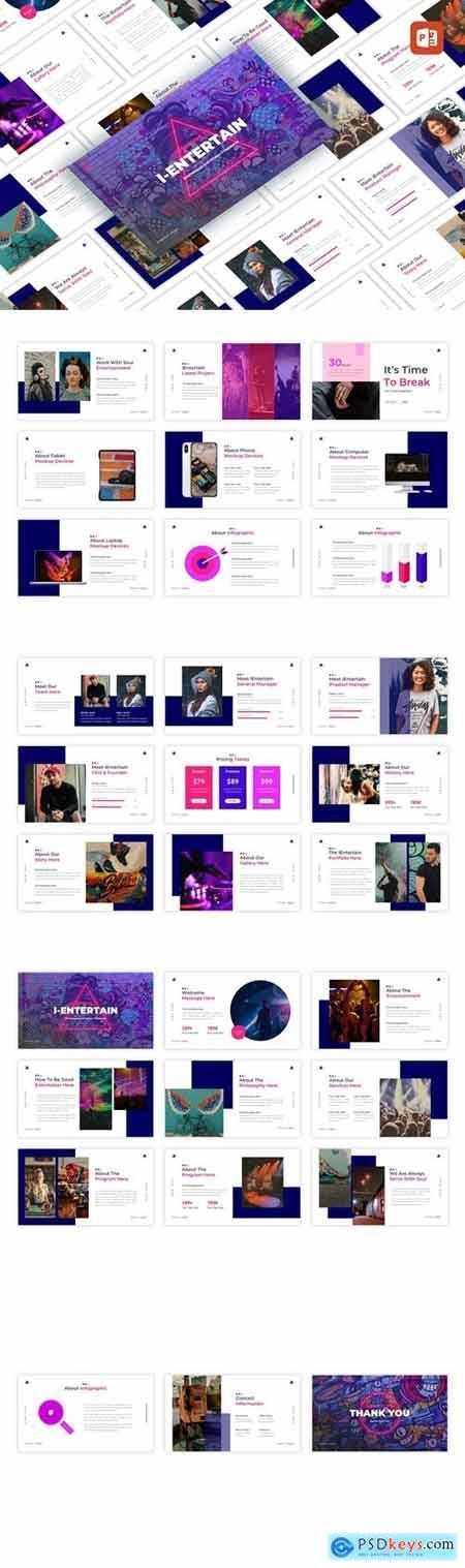 iEntertain - Entertaiment Creative PowerPoint