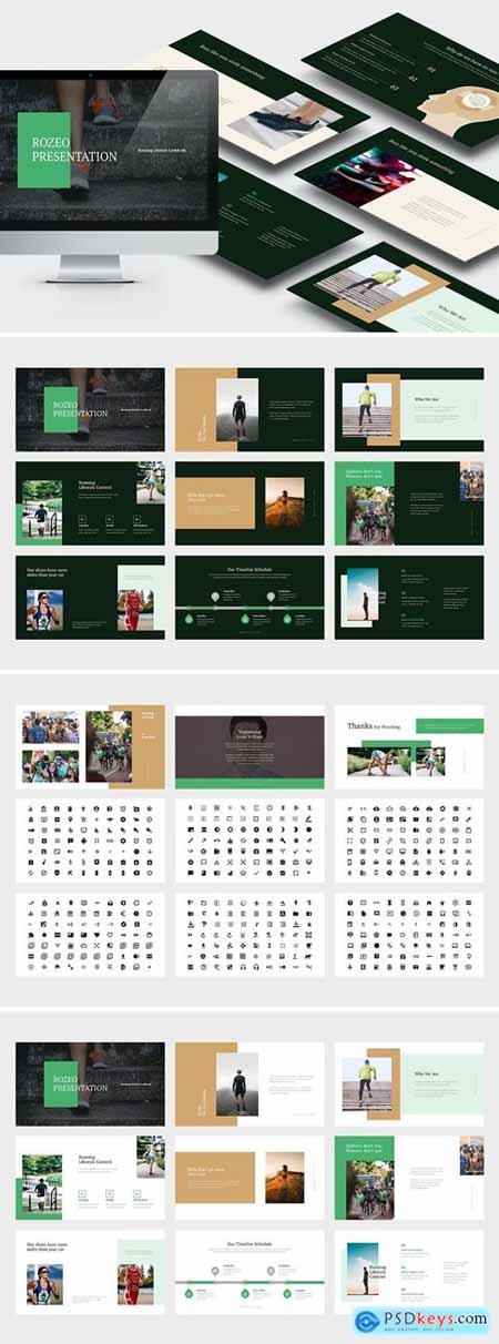 Rozeo - Running Lifestyle Powerpoint, Keynote and Google Slides Templates