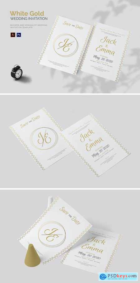 White Gold - Wedding Invitation