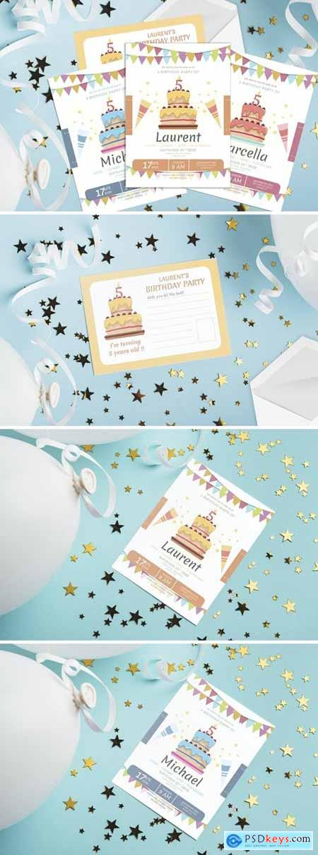Cake and Celebration - Kids Birthday Invitation