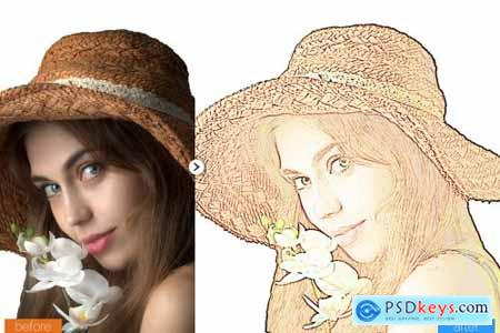 Cartoon Maker Photoshop Action 5411728