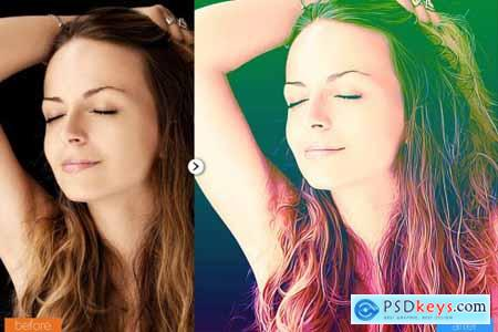 Lovely Painting Photoshop Action 5444545