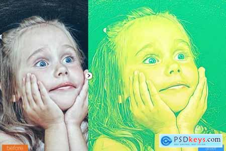 Cartoon Art Photoshop Action 5445086