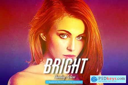 Bright Painting Photoshop Action 5444607