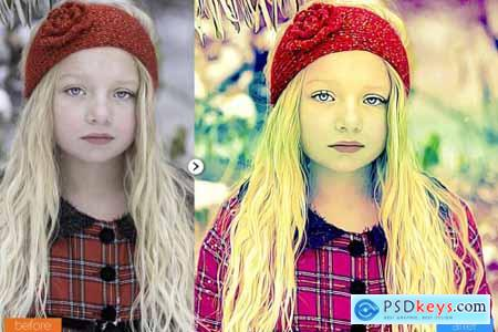 Royal Painting Photoshop Action 5444613
